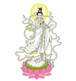 The Goddess of Mercy vector image