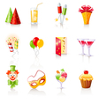 party icons vector image vector image
