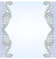 border with diamonds vector image