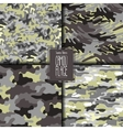 Abstract camouflage pattern set vector image
