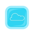 Cloud Storage Web Button Isolated Flat Style vector image
