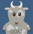 Cute grey goat cartoon flat icon avatar vector image