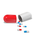 pill capsule vector image