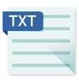 txt document file format square icon vector image