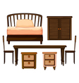 Furnitures made from woods vector image vector image