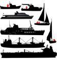 ship silhouettes vector image