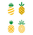 Pineapple icons vector image