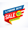 labor day weekend sale banner design vector image vector image