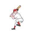 Baseball Player Batting Leg Up Cartoon vector image
