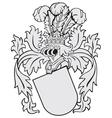 aristocratic emblem No14 vector image vector image