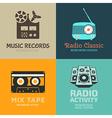 Audio logo set vector image