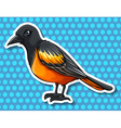Bird with black and yellow feather vector image