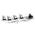 Reindeer with Santa Claus vector image