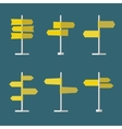 Road Signs Flat Icon Set vector image