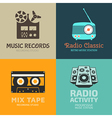 Audio logo set vector image