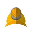 cartoon helmet mining light protection vector image