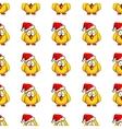 Chicken Santa On White vector image