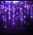 glowing falling sparkles and stars vector image