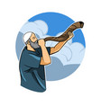 jewish blowing shofar vector image