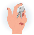 keys in a hand vector image