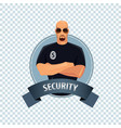 round icon on white background with security vector image