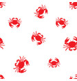 seamless marine pattern crabs vector image