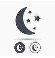 Moon and stars icon Night sleep sign vector image