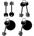 set of keys fourth variant vector image vector image