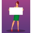 sexy girl with blank banner vector image