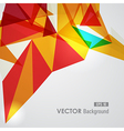 Red and yellow geometric transparency vector image