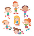 collection of happy children in different vector image