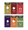 autumn fruits labels vector image