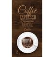 Cup coffee Dark Wood vector image vector image