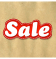 Cardboard Structure Label Sale vector image vector image