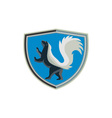 Skunk Prancing Side Crest Retro vector image
