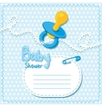 Baby shower Blue card template vector image