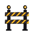 barrier restricted street stripe design drawing vector image