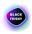 black friday smoothed banner with violet blue glow vector image
