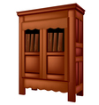 bookcase antique vector image