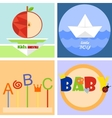 colorful fun childrenlogo or emblem vector image