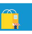 Flat market-bag with copyspace for text vector image