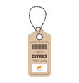 hang tag made in cyprus with flag icon isolated on vector image