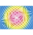 Optical abstract on sweet color background vector image