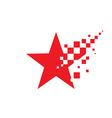 Star logo template concept vector image