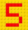 building kit of plastic Font 31 vector image