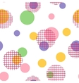 Seamless pattern with spots vector image