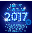 Light bulb Happy New Year 2017 greeting card vector image
