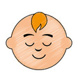 little baby asleep character vector image