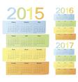 Set of russian color calendars vector image