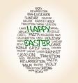 Easter egg made from handwritten words vector image